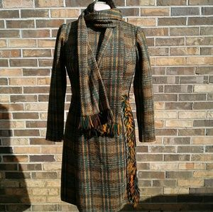 VTG Rona New York Fringe Dress w Belt & Scarf, 10